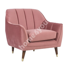 Кресло JOANNA 84x83xH80,5см, старый розовый бархат
