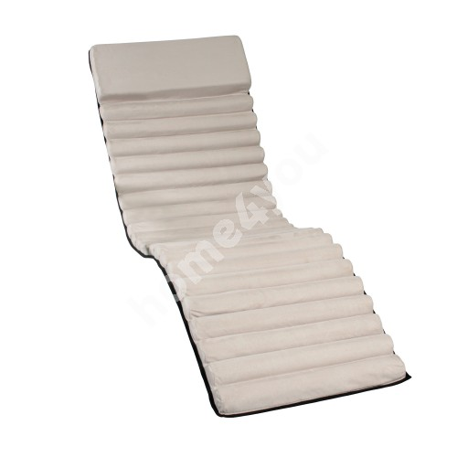 Deck chair pad FUN 170x50x4cm, color: beige