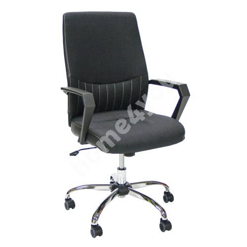 Task chair ANGELO 58x59x97-105cm, seat and back rest: fabric, color: black