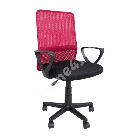 Töötool BELINDA 59x56xH86,5-98,5cm,  must / punane