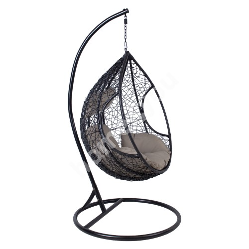 Hanging chair DROPLET black
