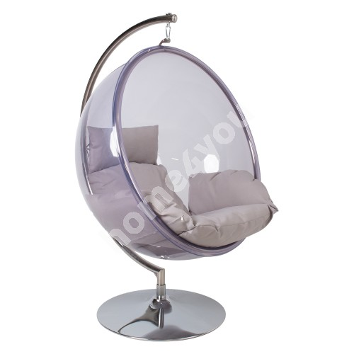 Hanging chair BUBBLE transparent plastic