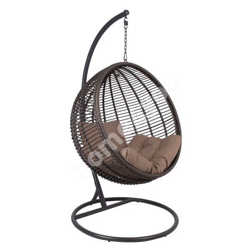Hanging chair GLOBE dark brown