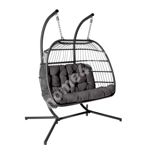 Hanging chair YOYO 2-seater grey