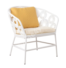 Садовый стул RONDO 65x75xH78см, белый