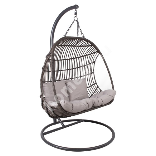 Hanging chair CHESTNUT 2-seater dark brown