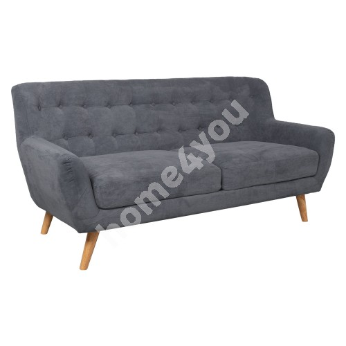 Sofa RIHANNA 3-seater 185x84xH87cm, cover material: fabric, color: grey