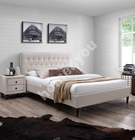 Bed EMILIA  140x200cm, beige