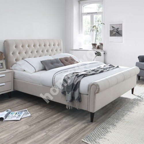 Bed LUCIA 160x200cm, beige