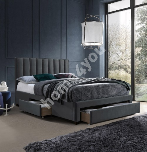 Кровать GRACE 160x200см, темно-серая