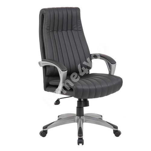 Task chair ELEGANT 62,5x76,5xH112-119,5cm, seat and back rest: artificial leather, color: black