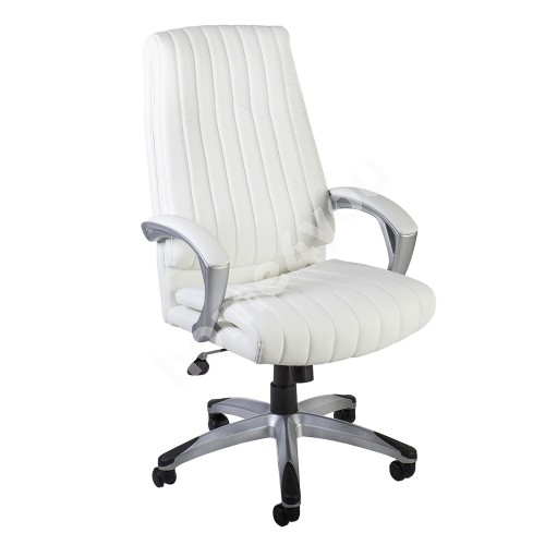 Task chair ELEGANT 62,5x76,5xH112-119,5cm, seat and back rest: artificial leather, color: white