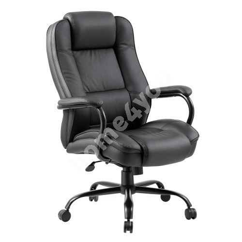 Task chair ELEGANT XXL 79,5x82xH113-120,5cm, seat and back rest: artificial leather, color: black