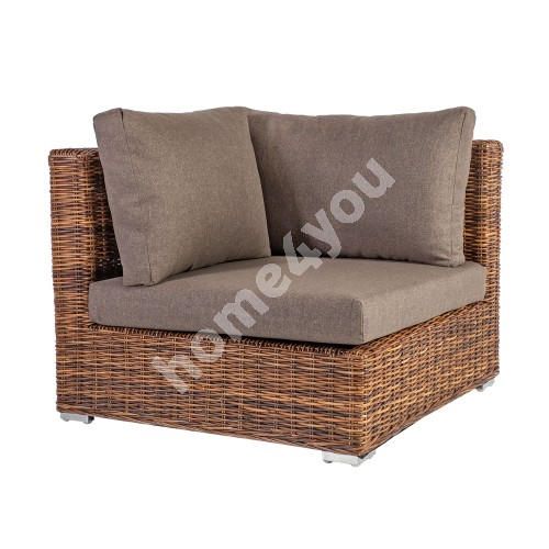 Module sofa CROCO corner 93x93xH73cm, natural rattan weaving