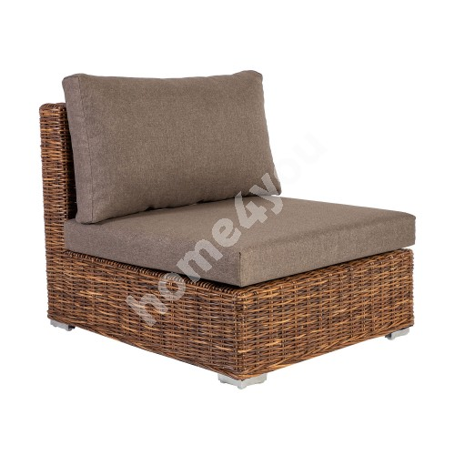 Module sofa CROCO middle part 77x93xH73cm, natural rattan weaving
