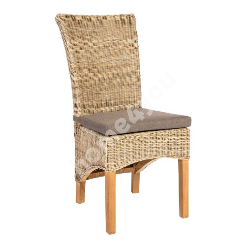 Chair MOON 50x63xH105cm, natural rattan weaving