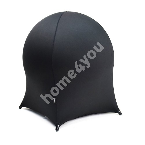 Ball chair JELLYFISH 55x55xH63cm, inflatable rubber ball on metal frame, cover: polyester / spandex, color: black
