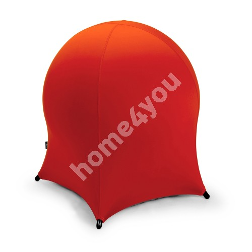 Ball chair JELLYFISH 55x55xH63cm, inflatable rubber ball on metal frame, cover: polyester / spandex, color: red