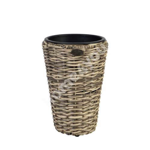 Plant holder WICKER D28xH40cm, plastic wicker, color: beige