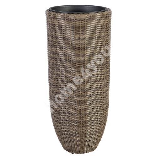 Plant holder WICKER D46xH105cm, plastic wicker, color: dark brown