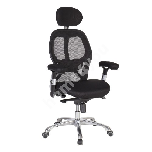 Task chair GAIOLA, 67xD62xH116-126cm, seat and back rest: mesh fabric, color: black