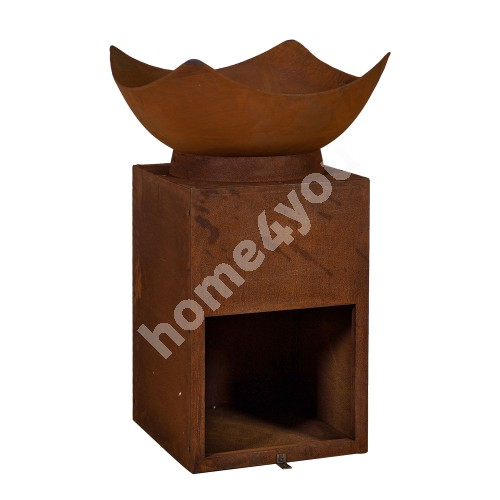 Fire pit WARM SEEKER D63xH88cm, material: cast iron, color: rusty