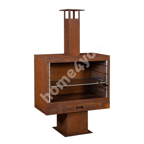 Fire pit WARM SEEKER 90x46xH160cm, material: metall, color: rusty
