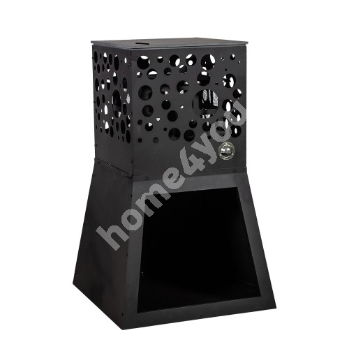 Fire pit WARM SEEKER 44x44xH95cm, material: metall, color: black