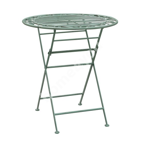 Table MINT foldable D70xH75cm, wrought iron, antique green