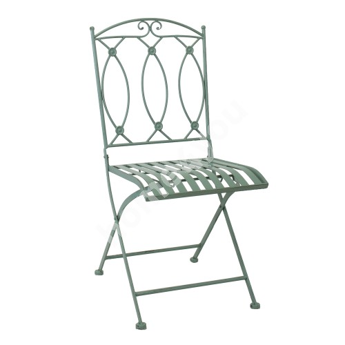 Chair MINT foldable 42x51xH90cm, wrought iron, antique green