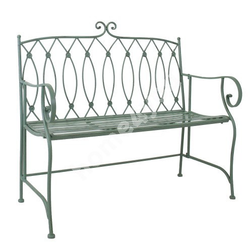 Bench MINT 104x55xH95,5cm, wrought iron, antique green