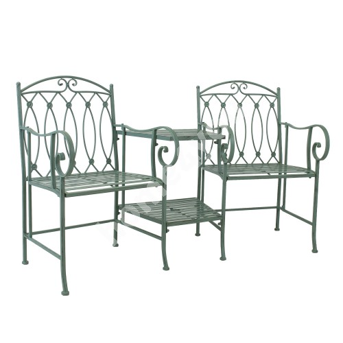 Bench with table MINT 155x68,5x91,5cm, wrought iron, antique green