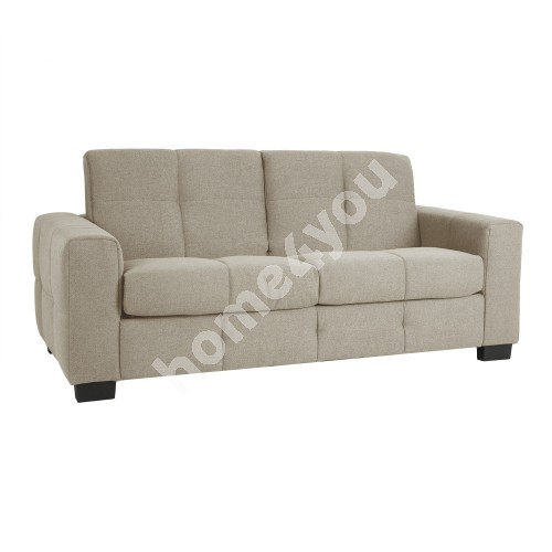 Sofa bed MIA 3-seater 206x97xH91cm, cover material: polyester fabric, color: beige