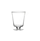 Vaas jalaga POKE, D14,5xH18cm, läbipaistev klaas