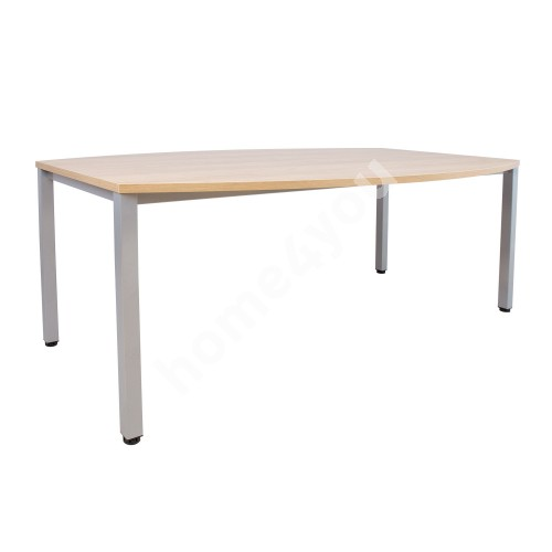 Conference table EASY SPACE 200x120/80xH74cm, hickory