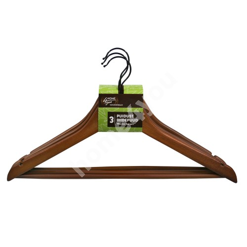 Cloth hangers 3pcs/set, dark wood