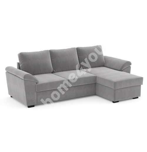 Corner sofa bed HUDSON light grey