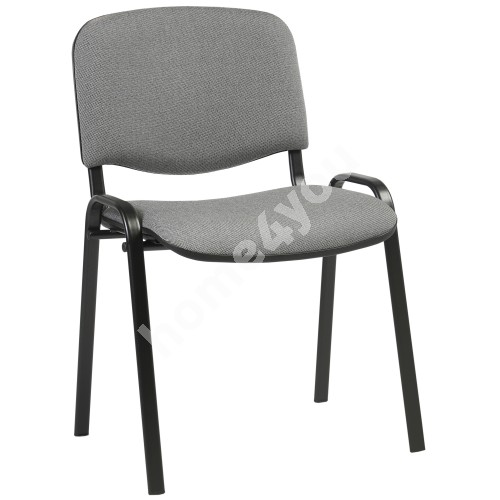 Guest chair ISO 54,5xD42,5xH82/47cm, seat: fabric, color: grey, frame: black