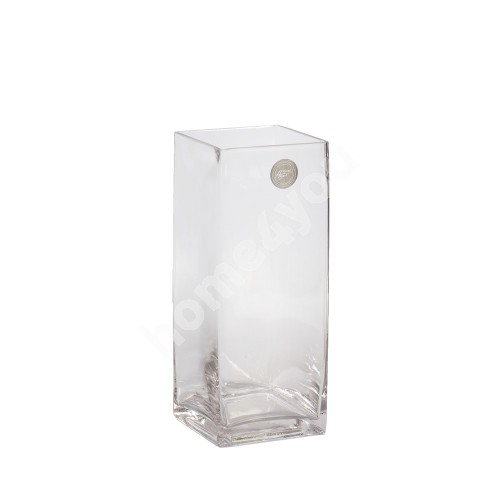 Vase IN HOME 10x10xH25cm, clear glass