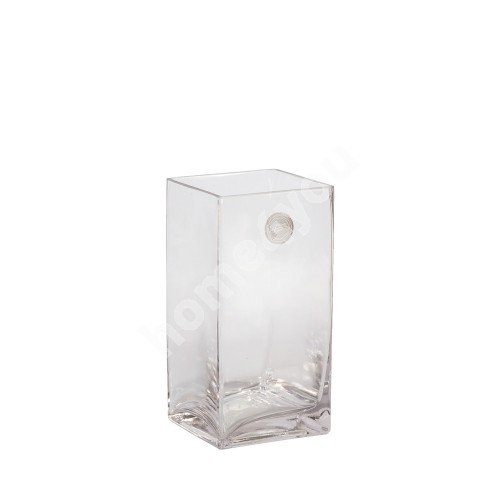 Vase IN HOME 10x10xH20cm, clear glass