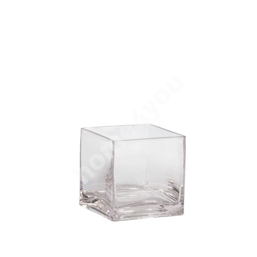 Vase IN HOME 10x10xH10cm, clear glass