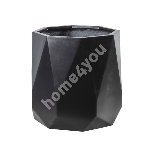 Plant holder SANDSTONE D55xH49cm, black fiber cement