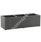 Plant holder SANDSTONE 95,5x34,5xH28cm, grey fiber cement, 3 plastic insert pots