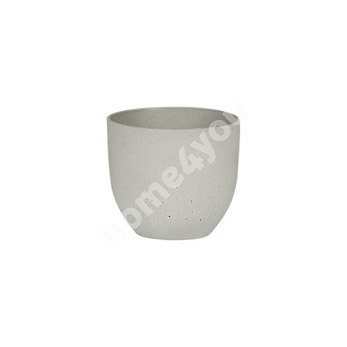 Plant holder SANDSTONE D16xH14cm, material: polystone, color: grey