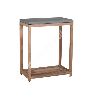 Shelf SANDSTONE 65,5x34,5xH75cm, grey fiber cement, wooden frame