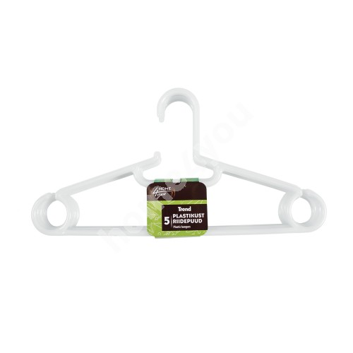 Cloth hangers 5pcs/set, TREND, plastic, mix
