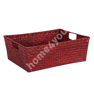 Basket PETRA-2, 37x28x14cm, red