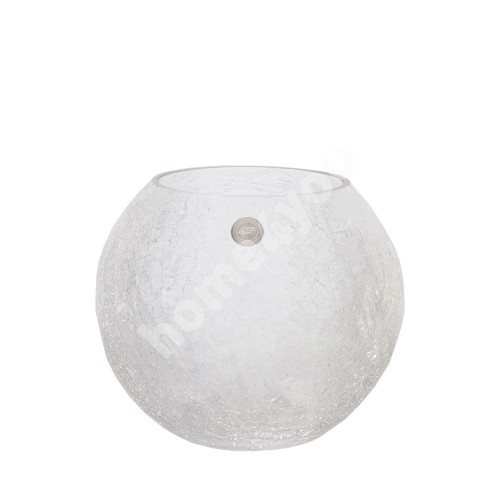 Vase CRACK BOWL, D15xH21cm, cracked glass