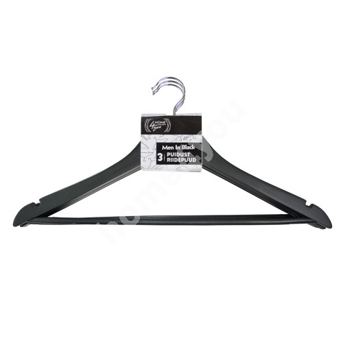 Cloth hangers 3pcs/set, MEN IN BLACK, black wood