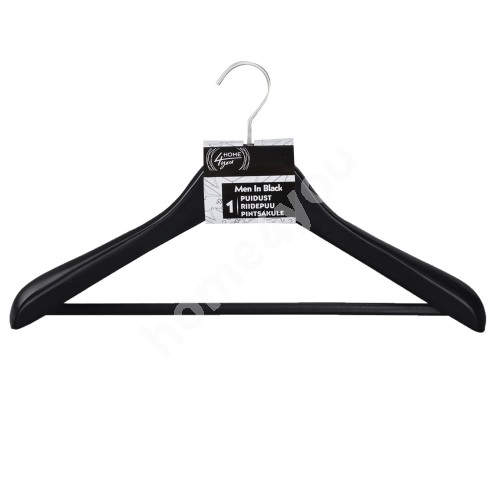 Cloth hanger for coat MEN IN BLACK, black wood